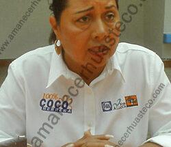 alcaldesa electa de Ciudad Valles, Socorro Herrera Orta.