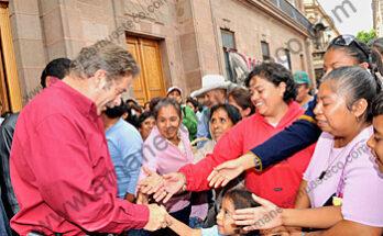 El Gobernador Fernando Toranzo Fernández, dialogó con los integrantes del Movimiento Pueblo Libre