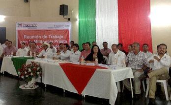 Se reúne Ángel Castillo Torres con priístas de la Huasteca en Tamazunchale, encabezados por la Diputada Federal Rebeca Terán Guevara