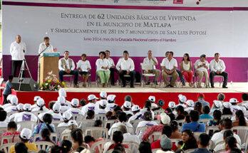 ENTREGA DOCTOR TORANZO VIVIENDAS PARA FAMILIAS POTOSINAS